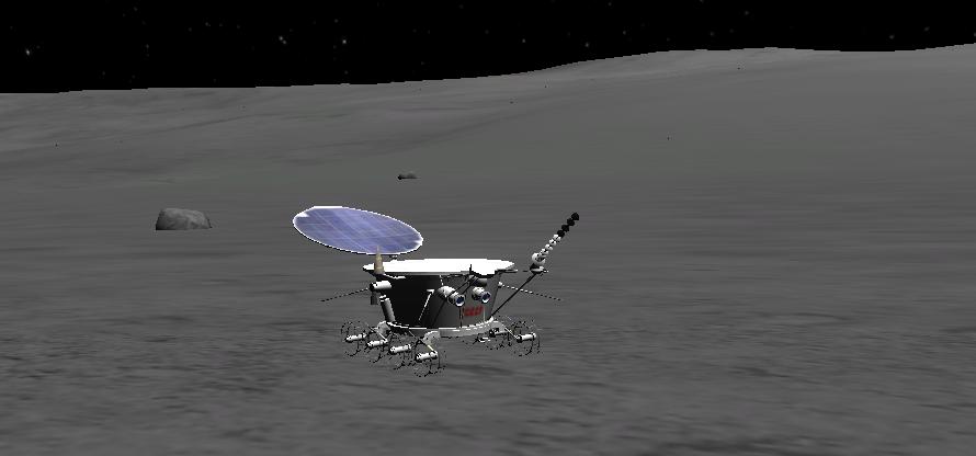 Le rover Lunokhod.