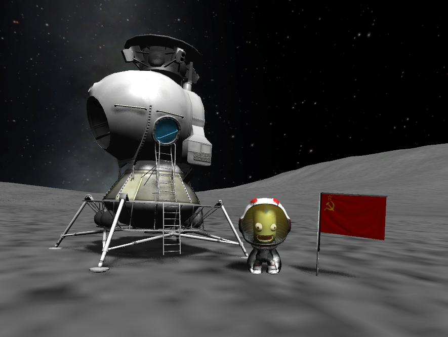 Un LK posé sur la Lune.