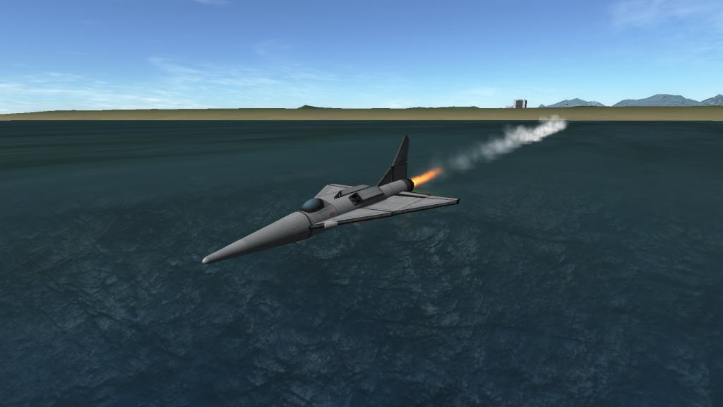 Un avion stock utilisé dans l'eau pour voir sa nouvelle physique.