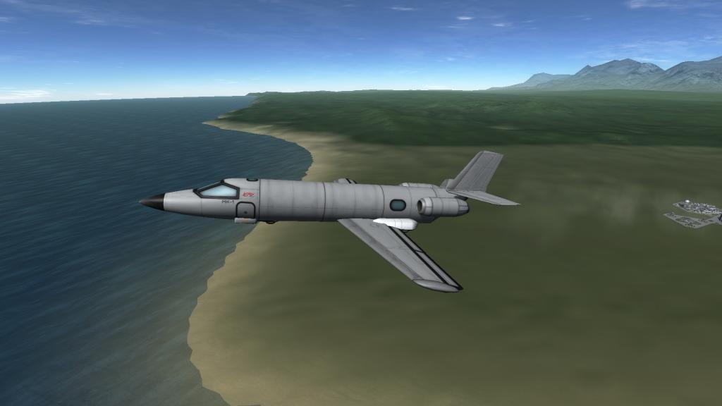 Un avion stock, avec les nouveaux moteurs, entrées d'air, et la nouvelle cabine.