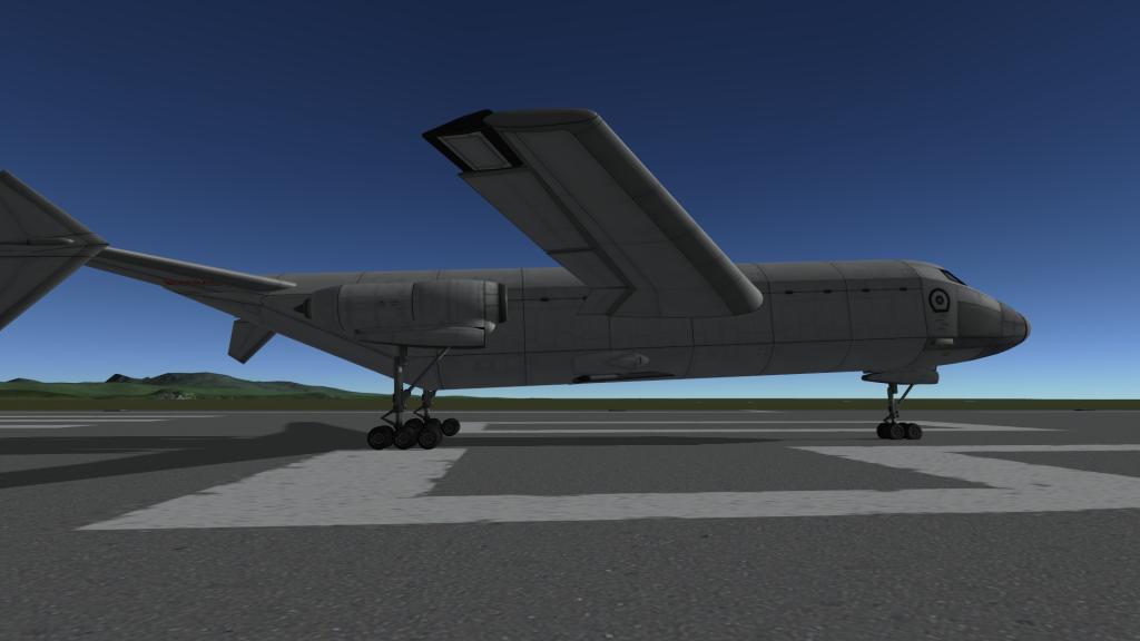 Ici, lavion possède un angle qui est compensé par les suspensions du LY-99.