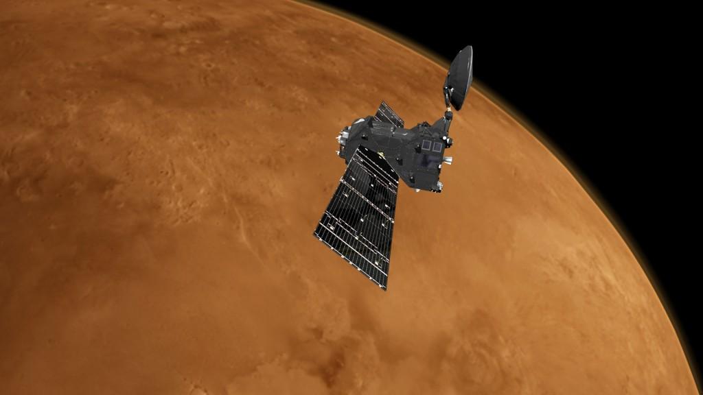 TGO au dessus de Mars